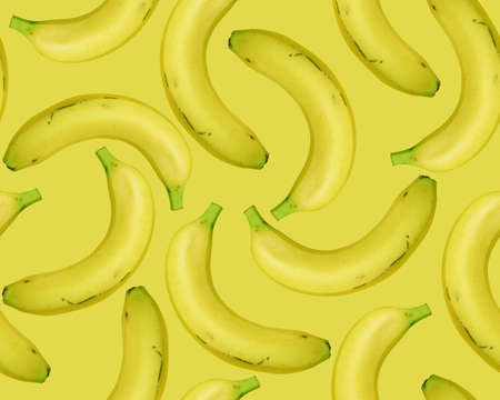 seamless Fresh Bananas on blue background. photo