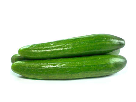 Fresh Cucumber over white background Stock Photo - 13171325