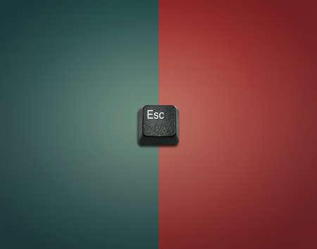 imaginary dialogue: Escape de la Palabra de Hecho de teclas del teclado de ordenador, los botones del teclado con las ideas. Foto de archivo