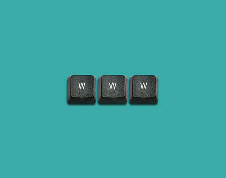 Word www Made From Computer Keyboard Keys, keyboard buttons with ideas.