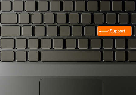 Keyboard with Support button, Support concept  photo
