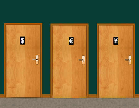 sign of public toilets WC on wooden door Stock Photo - 13171300