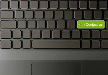 Keyboard with contact us button, contact us concept  photo