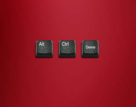 imaginary dialogue: Word alt and control and delete Keyboard Keys, keyboard buttons with ideas.