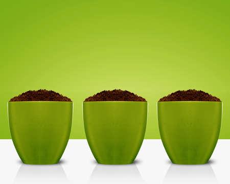 soil and garden pot, growing concept. photo