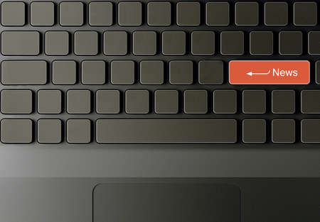 Keyboard with News button, News concept  photo