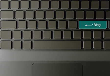 Keyboard with Blog button, Blog concept  photo