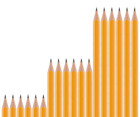 Set of Pencils on white background. Stock Photo - 13251404