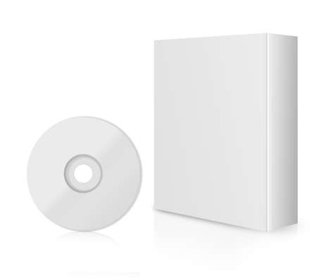 dvd case: Modern Software Box, blank box with DVD or CD.