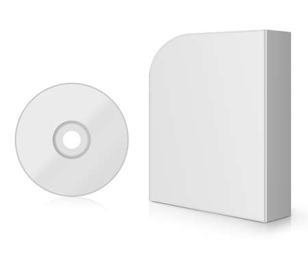 Modern Software Box, blank box with DVD or CD. Stock Photo - 13252142