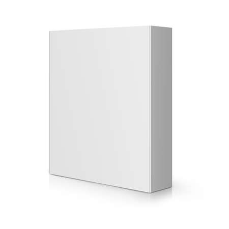 dvd case: Modern blank Software Box. Stock Photo