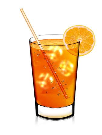 Fresh orange juice and slice isolated on white Stock Photo - 13252412