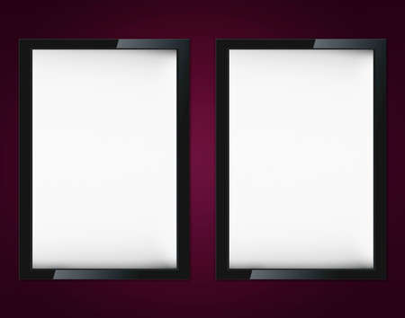 Blank advertising billboard on wall with copy space for your announcement. photo