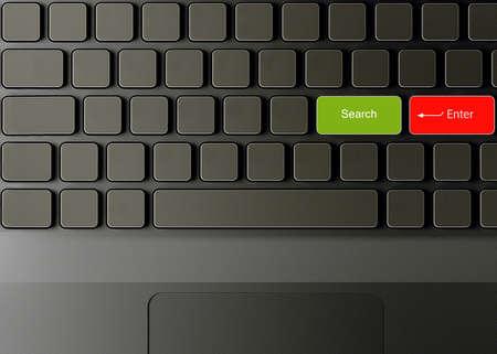Кнопки: Клавиатура с кнопкой Поиск, поиск концепции