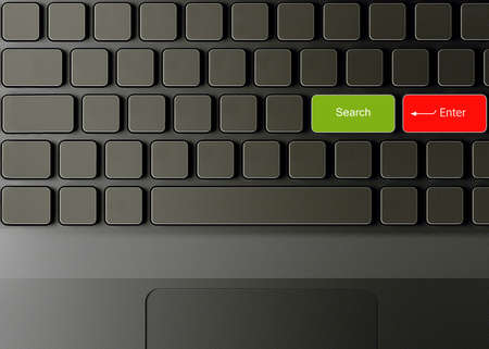 Keyboard with Search button, Search concept  photo