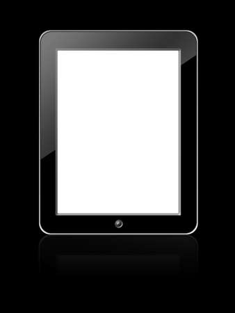 Black blank Digital LCD Frame isolated on white background. photo