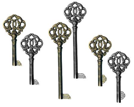skeleton key,  photo