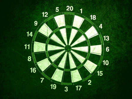 concept for hitting target, dart board with darts. Stock Photo - 13644232