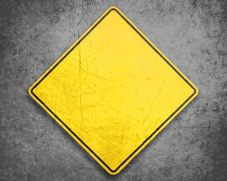 Empty Yellow Sign, attention and alert sign  photo
