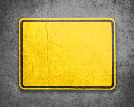 Empty Yellow Sign, attention and alert sign