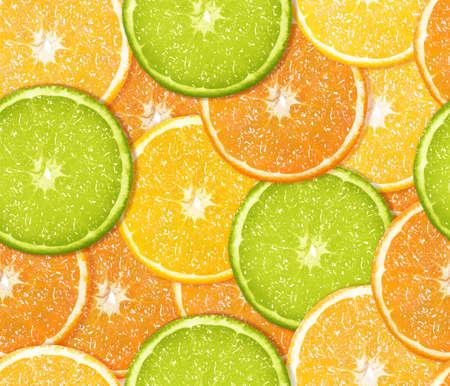 Fresh orange background from slices of orange  photo