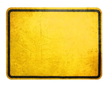 warnem      ¼nde: Leere gelbe Schild, Aufmerksamkeit und Ausrufezeichen. Lizenzfreie Bilder