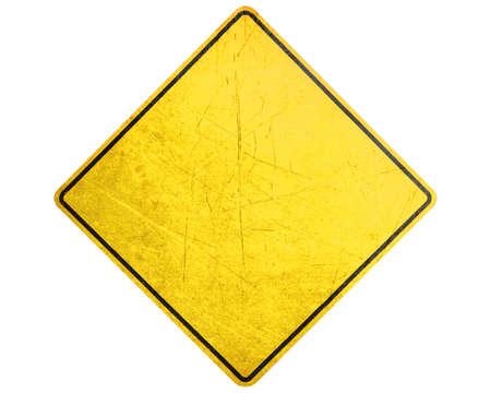 se�al de transito: Signo vac�o Amarillo, la atenci�n y la se�al de alerta.