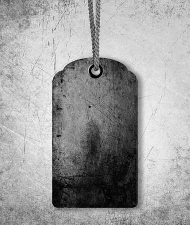 grungy gray price tag background, sale or old price conceptual image. photo