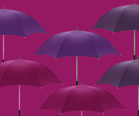 Multicolored umbrellas a symbol of summer, fashion and decoration.  photo