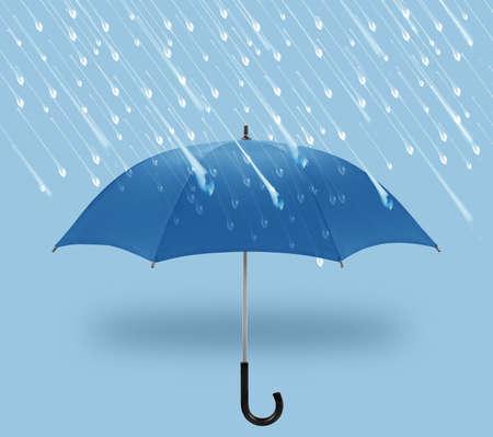 nice weather: umbrellas a symbol of winter with rain