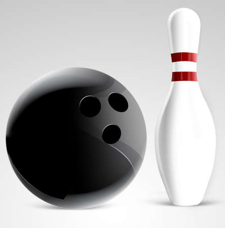 Bowling pin on gradient background photo