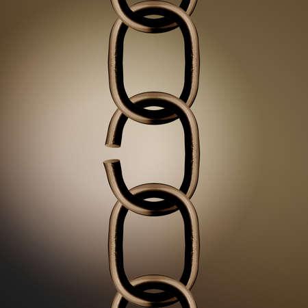 break chain: Broken metal chain parts background.