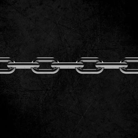 iron cross: Metal chain parts isolated on white background.