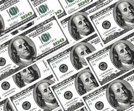 Money background, american hundred dollar bills. photo
