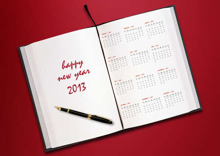 New year 2013 Calendar with conceptual image of new year greeting. Stock Photo - 15551208