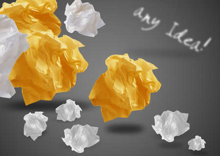 imaginary dialogue: Crumpled colorful papers creating speech bubble.