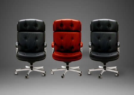 Black armchair, good concept for free position, good career, out of box and peace of mind. Stock Photo - 15551278