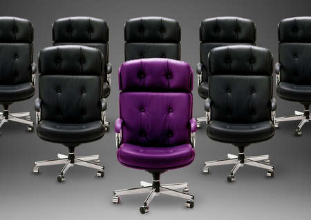 Black armchair, good concept for free position, good career, out of box and peace of mind. Stock Photo - 15551287