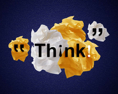 masterly: Crumpled colorful papers creating speech bubble.