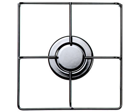 Stainless steel gas hob or stove. photo