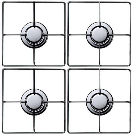 estufa: Acero inoxidable cocina de gas o una estufa.