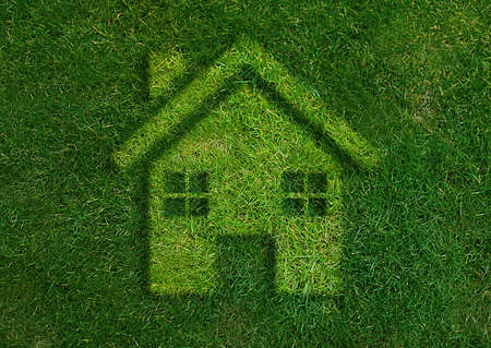 ecology concept, Green home green world.  Stock Photo - 15551329