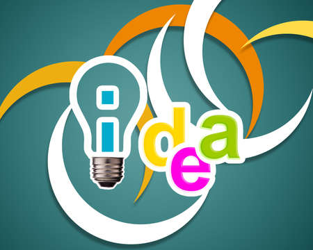 Idea word with lightbulb. Stock Photo - 15551238