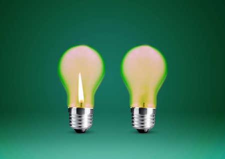 Wax candle into lighting bulb . Stock Photo - 15787103