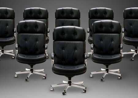 Black armchair, good concept for free position, good career, out of box and peace of mind.  Stock Photo - 15787396