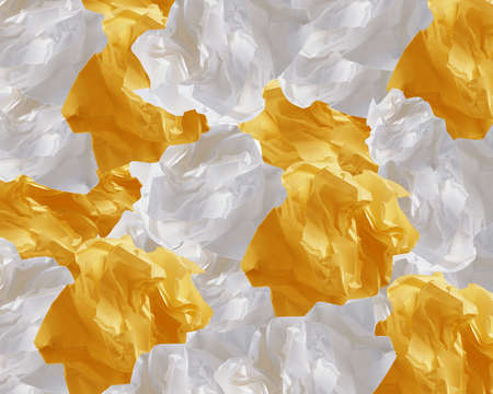 Crumpled colorful papers creating speech bubble. Stock Photo - 15787512
