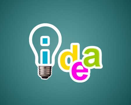 Idea word with lightbulb. Stock Photo - 15787111