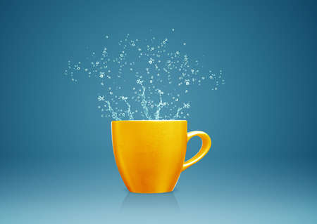 colorful mug with water splashes. Stock Photo - 15787236