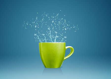 colorful mug with water splashes. Stock Photo - 15787244