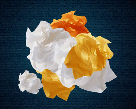 Crumpled colorful papers creating speech bubble. Stock Photo - 15787576